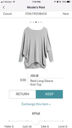 Have pinned this one for several months, in several colors (something more spring-ready would be good) Stitch Fix Dress, Stitch Fix Fall, Stitch Fix Outfits, Edgy Outfits, Cute Outfits, Cold Weather Fashion, It Goes On, Fall Wardrobe, Cute Tops