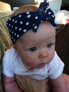 baby, headband, polka dots...this is why I kinda hope my baby is a girl!