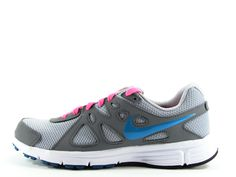 NIKE Womens Revolution 2 Running Shoes Size 8.5 (Grey/Pink)