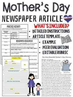 Newspaper Article Template  Education    Newspaper
