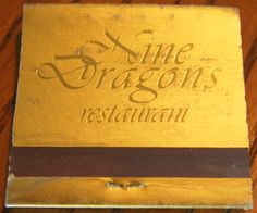 Nine Dragons Restaurant #matchbook To order your business' own branded #matchbooks go to www.GetMatches.com or call 800.605.7331 today!