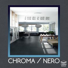 Chroma Nero Porcelain Floor Tile for Kitchen, Bathroom, indoor and Outdoor. #finishbuild