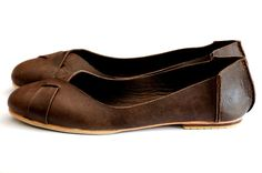 I think I need this pair of handmade leather ballet flats