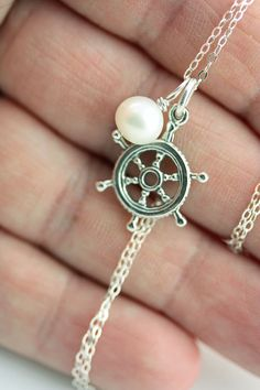 Captains Wheel and Pearl necklace