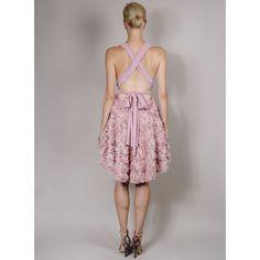 Goddess by Nature Multi-wear Rosette Dress via Polyvore