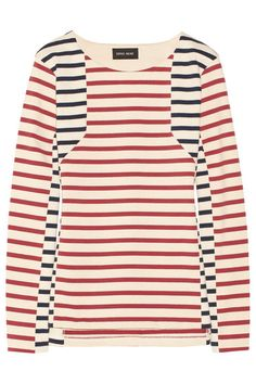 sophie hulme red + blue breton shirt