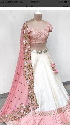 Security Check Required - WhatsApp: Bringing luxury Indian fashion at your fingertips Specialize in HAND EMBROI - Half Saree Lehenga, Lehnga Dress, Red Lehenga, Lehenga Gown, Anarkali Suits, Designer Bridal Lehenga, Indian Bridal Lehenga, Half Saree Designs, Lehenga Designs