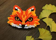 Unique one-of-a-kind Fox hair ornament kanzashi от AlkatoCrafts