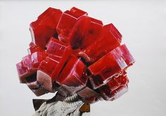 Surreal Art: Iulia Filipovscaia 'JC- Marmalade Boy: The Mineral Man Series', 2013 | Collectible Original Collage | Kidsofdada.com  #surrealart #collage #gem #red #art