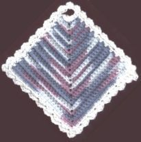 Diamond Dishcloth - free crochet pattern
