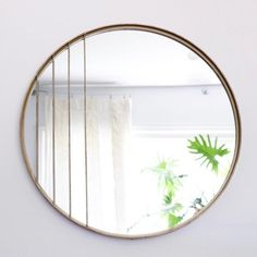 Antiqued Deco Round Mirror | Holistic Habitat