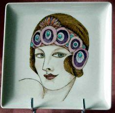 1920's Flapper Girl - a bit of Art Deco influence, I think
