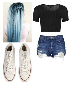 """""""Untitled #2093"""" by bubble-loves-you ❤ liked on Polyvore featuring Topshop and Converse"""