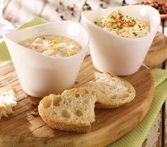 Pikanter Dip mit Knoblauch und Kräutern, der wunderbar zu Gemüse oder Brot schmeckt