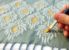 Add charming character to fabric with this easy technique.  I want to do this with pocket squares!