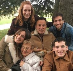 Bruce Springsteen and his family on Thanksgiving on November 24, 2016.