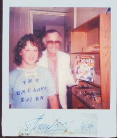 Kid Visiting Marvel Comics Headquarters, 1983. Obviously Marvel hadn't spent any of its millions on redecorating (maybe it all went on toupees for Stan?).