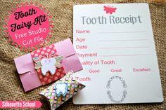 DIY Tooth Fairy Kit (includes FREE Silhouette Studio Cut Files) #toothfairykit #DIYtoothfairykit #kids #firsttooth  #silhouette #freecutfile #freestudiofiles #silhouettetutorial |www.silhouetteschoolblogspot.com