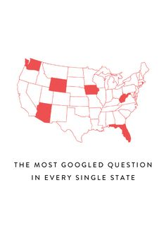 You can tell a lot about a person by their Google search history, but does the same go for entire states?