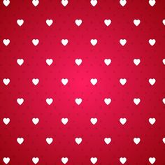 Red background with a pattern of white hearts Free Vector Red Pattern, Pattern Paper, Pattern Design, Seamless Background, Red Background, Vector Background, Scrapbooking, Scrapbook Paper, Love Backgrounds