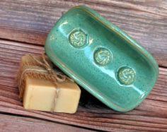 Ceramic Soap Dish Pottery Soap Dish Soap by MudFirePottery