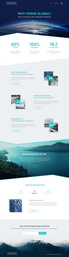 Verne global web design home