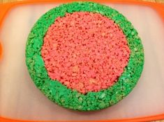 Give the ever popular rice cereal treats a summertime look. This is a guide about Rice Krispy treat watermelon slices. Cereal Treats, Rice Cereal, Rice Krispie Treats, Rice Krispies, First Birthday Themes, Birthday Treats, 2nd Birthday, Watermelon Birthday Parties, Food Art For Kids
