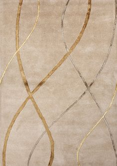 Gold rug with multicolor modern design. Free Shipping.