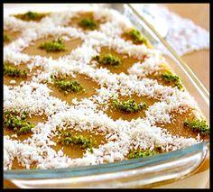 Şeftali soslu muhallebi