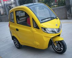 ZEV T3-1 Micro: tiny electric 3-wheeler car is fully weather sealed and can carry 360 lbs...
