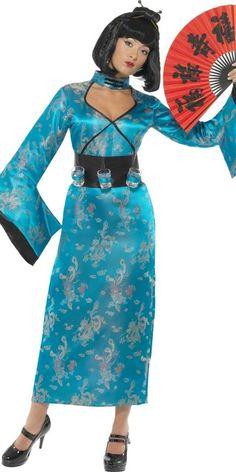 85ce67afba1c Carnevale Costumi e accessori per Travestimenti · Abito lungo Geisha  completo di cintura porta bicchierini. TG.M Costume per travestimento  Cinesina