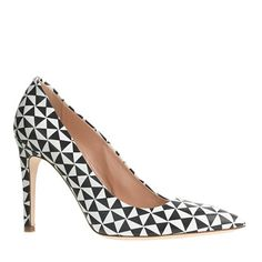 Graphic prints are going to be my thing this season. J.Crew - Falsetto printed leather pumps