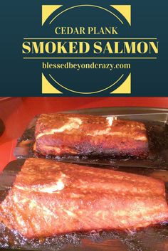 Cedar Plank Smoked Salmon - remarkably easy and delicious. It's also a recipe that you will want to keep close at hand this grilling season! #blessedbeyondcrazy