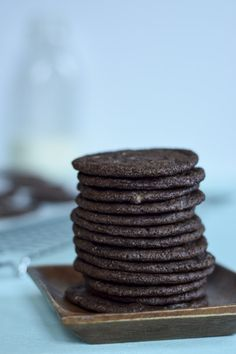 Andes Mint Chocolate Cookie Stack