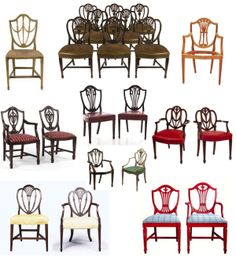 "Elegance In Design:  The Timeless ""Hepplewhite"" ""Shield-Back"" Chair"