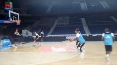 El Real Madrid está entrenando a estas horas en el Wizink Center, antes de disputar el segundo partido de la final de la ACB frente a Valencia Basket esta misma tarde.