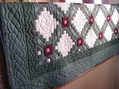 vintage-double-irish-chain-handquilted queen size quilt available on Etsy