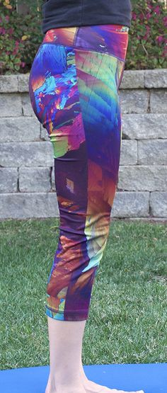 Wild Splash Crystal Yoga Pants from Crystal Art Outfitters. Motivation for all your fitness goals.