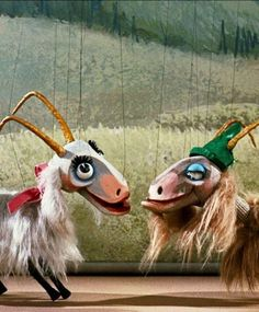The Sound of Music. Goats. Up close, I can't help but find them slightly creepy.