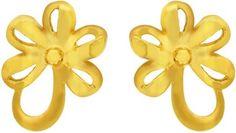 Kalyan Jewellers Moulding Fancy 22 K Gold Stud Earring Price in India - Buy Kalyan Jewellers Moulding Fancy 22 K Gold Stud Earring Online at Best Prices in India |  Gold jewellery online shopping kalyan jewellers