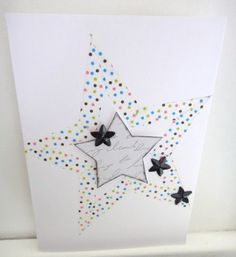 Masking tape, étoile, carte, card, star, scrap