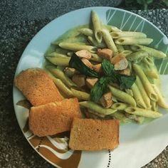 Creamy Chicken Penne Pesto #creamy #basil #Filipino #green Easy Filipino Recipe and Procedure.. 500grams Penne Rigati Pasta(al dente),basil leaves,almond nuts,cashew nuts, garlic, quickmelt cheese,2 (nestle) all purpose cream,1 (Alaska) Evaporated Milk, (anchor/dairykrem) 100gms butter, (Eden) Cheese,1 (knorr) chicken broth cube PROCEDURE: 1.Process garlic,almond and cashew nuts with olive oil until well ground,then add basil leaves and ground pepper.. Your Pesto is now ready!! 2.Saute…