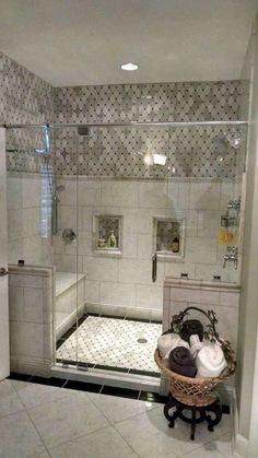 82 Amazing Farmhouse Tile Shower Remodel Ideas #FarmhouseIdeas #TileShower #ShowerRemodel