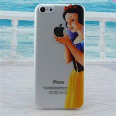case for iphone 4 4s 5 5s SE 6/6s 6 plus/6s plus cover trasparente hard plastic print cute Snow White Simpson Simpsons logo