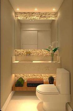 31 beautiful half bathroom ideas for your home 31 - Channel .- 31 beautiful half bathroom ideas for your home 31 – – Source by annamariabrand - Bathroom Design Small, Bathroom Interior Design, Interior Design Living Room, Small Bathrooms, Bathroom Designs, Modern Bathroom, Bath Design, Tile Design, Small Bathtub