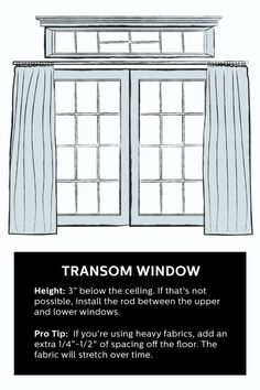 How To Hang Curtains for a Transom Window                                                                                                                                                                                 More