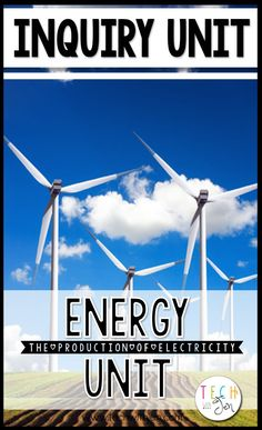 This inquiry based unit will assist students in learning about renewable and nonrenewable energy sources and the production of electricity. This unit is full of lesson plans, activities, and literacy center ideas for and grade. Third Grade Science, Elementary Science, Science Classroom, Teaching Science, Science Education, Science Activities, Science Ideas, Fourth Grade, Science Experiments