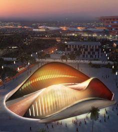 The United Arab Emirates Pavilion Expo 2010 Shanghai. Now located in Saadiyat Island, Abu Dhabi, UAE