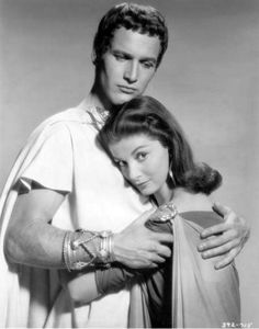 Paul Newman & Pier Angeli in 'The Silver Chalice', 1954