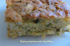 Αλμυρή κολοκυθόπιτα χωρίς φύλλο (VIDEO) - cretangastronomy.gr Quiche, Banana Bread, Pie, Breakfast, Desserts, Food, Torte, Morning Coffee, Cake